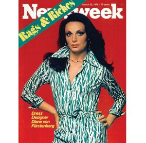 Designer Diane Von Furstenberg on the cover of Newsweek in 1976.